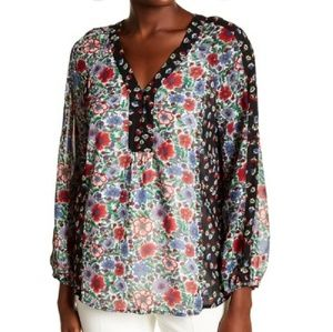 Nanette Lepore In This Moment Floral Blouse NWT